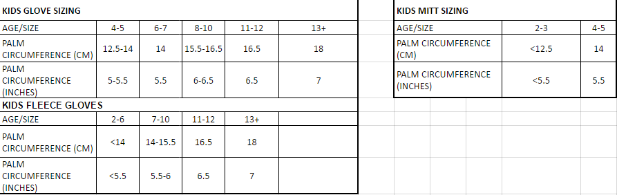 Size Chart Dare2b